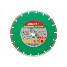 Алмазный круг 230х22мм универс. сегмент. ВОЛАТ арт.89010-230