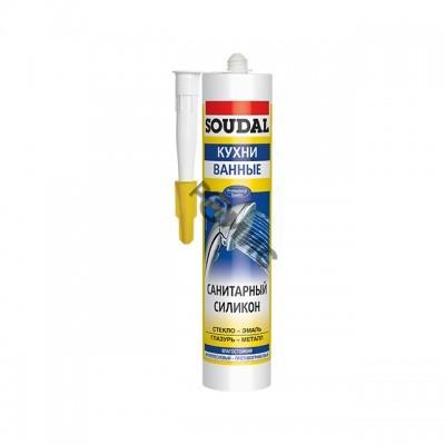 Герметик силикон. санитарный белый 280мл SOUDAL Profil