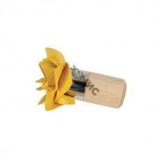 Тампон декоративный круглый, диам. 50 мм, искусственная кожа, деревянная ручка 02399-5