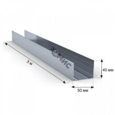 Профиль стеновой направляющий ПН  50 х40 х0,45 (дл.3м)
