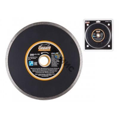 Алмазный круг 200х25.4 мм по керамике сплошн. GEPARD (мокрая резка) (GP0803-200) Китай
