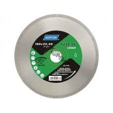 Алмазный круг 180х25,4 мм по керамике сплошн. VULCAN TILE NORTON (мокрая резка) 70184625182, Польша