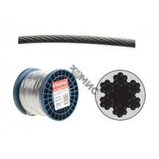 Трос для растяжки в оплетке ПВХ, М 3/4, (бухта 200м) стальной DIN3055 STARFIX (SMP-53714-200) РФ