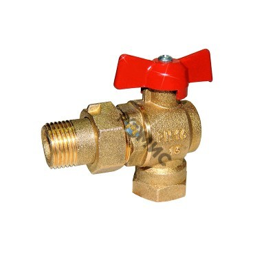 Кран шаровой DN 15 (МР)11Б27п 17 (вода) угловой со сгоном