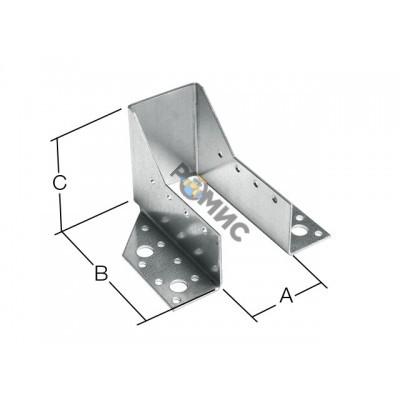 Опора бруса раскрытая 51х105x76 мм OBR R белый цинк STARFIX