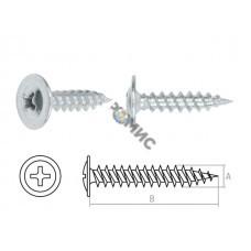 Саморез 4,2х13 мм с прессшайбой, цинк, острый (100 шт в зип-локе) STARFIX