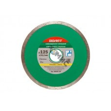 Алмазный круг 125х22 мм по керамике сплошн. ВОЛАТ (мокрая резка)