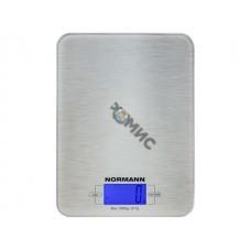 Весы кухонные ASK-266 NORMANN (5 кг; стекло 3 мм; дисплей 45х23 мм с подсветкой)