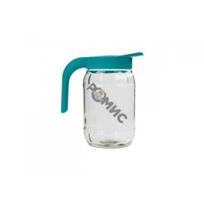 Кувшин Бочонок, бирюза, BEROSSI (Изделие из стекла и пластмассы. Литраж 1.5 литра)