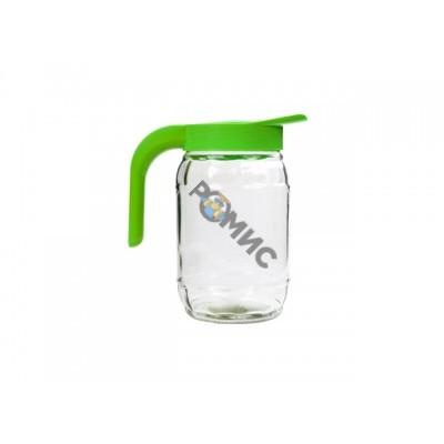 Кувшин Бочонок, салатный, BEROSSI (Изделие из стекла и пластмассы. Литраж 1.5 литра)