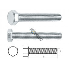 Болт М14х90 мм шестигр., цинк, кл.пр. 5.8, DIN 933 (5 кг.) STARFIX