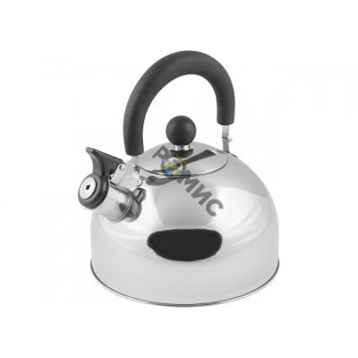 Чайник со свистком, нержавеющая сталь, 2.15 л, серия Holiday, серебристый металлик, PERFECTO LINEA (