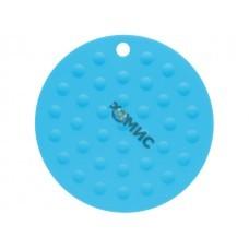 Коврик под горячее силиконовый, круглый, 17.5 х 0.2 см, голубой, PERFECTO LINEA