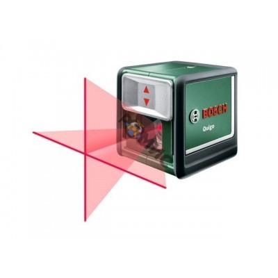 Нивелир лазерный BOSCH QUIGO с держателем в мет. кор. (проекция: крест, до 10 м, +/- 6 мм, резьба 1/