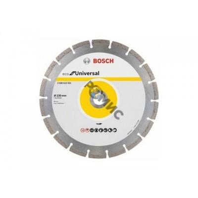 Алмазный круг 230х22мм универс. сегмент.  BOSCH ECO UNIVERSAL (сухая резка) 2608615031