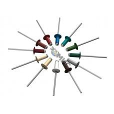 Заклепка вытяжная 3.2х8 мм алюминий/сталь, RAL 8017 (250 шт в пласт. конт.) STARFIX (Цвет шоколадно-