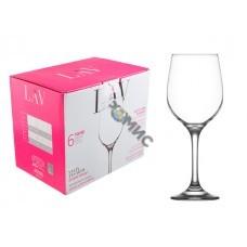 Набор бокалов для вина, 6 шт., 395 мл, серия Fame, LAV