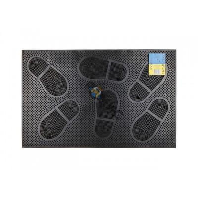 Коврик придверный 58х36,5 см, черный,