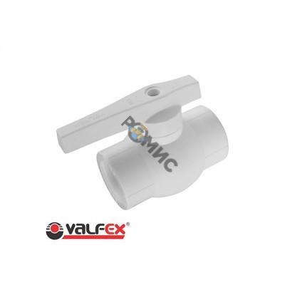 Кран шаровый ПП 32 OPTIMA белый Valfex
