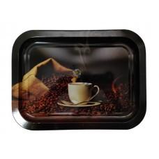 Поднос жестяной Кофе прямоугольный 246х328х15, ЖЕСТЕУПАКОВКА