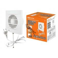 Вентилятор ф100  СВп (TDM) белый c проводом 1,3м и выключателем, настенный 100 (SQ1807-0013)