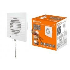 Вентилятор ф120 CB, TDM белый, с выключателем, бытовой настенный (SQ1807-0017)