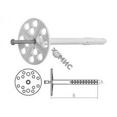 Дюбель для теплоизоляции 10х140 мм с металлич. гвоздем (100 шт в коробе) STARFIX