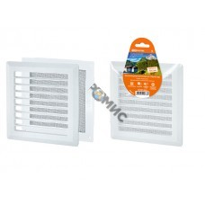 Решетка вентиляционная пластм. 175х175 разъемная с москитной сеткой, прямые жалюзи, TDM (SQ1807-0019