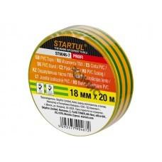 Изолента ПВХ желто-зеленая 18ммх20м STARTUL PROFI (ST9046-7)