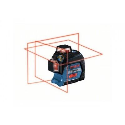 Нивелир лазерный линейный BOSCH GLL 3-80 в чем. (проекция: 3 плоскости 360°, до 120 м, +/- 0.20 мм/м