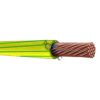 Провод ПВ-3  6/ПуГВ 1х6,0 жел/зеленый