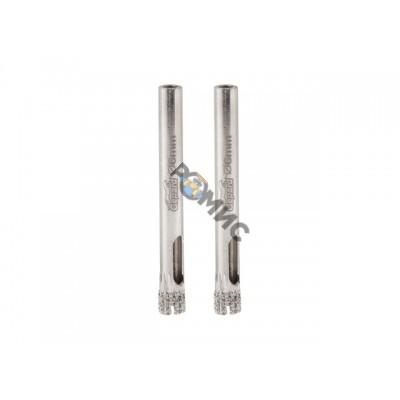 Коронка алмазная  d 6мм по стеклу и керамике 2шт. GEPARD (GP2076-06) (сверло алмазное трубчатое)