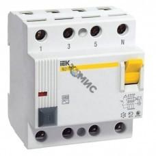 Выключатель диф. тока (УЗО) 4п 25А 30мА тип AC ВД1-63 ИЭК MDV10-4-025-030