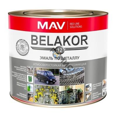 Эмаль Belakor 12 по металлу RAL 5005 синий 2,4 л.(2кг) атмосферостойкая быстросохнущая