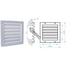 Решетка вентиляционная накладная РС4Н-500х500, РБ