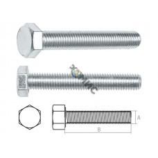 Болт М20х100 мм шестигр., цинк, кл.пр. 5.8, DIN 933 (5 кг.) STARFIX