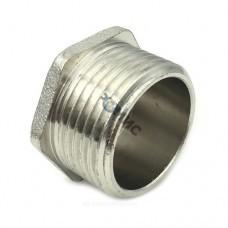 Заглушка латунная никел Ду 32 НР Китай