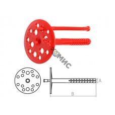 Дюбель для теплоизоляции 10х120 мм с пласт. гвоздем (100 шт в коробе) STARFIX