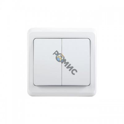 Выключатель 2-кл. СП Вега 10А IP20 ВС10-2-0-ВБ бел. ИЭК EVV20-K01-10-DM