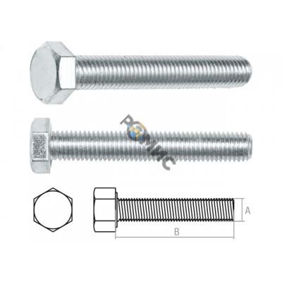 Болт М8х30 мм шестигр., цинк, кл.пр. 5.8, DIN 933 (20 кг.) STARFIX