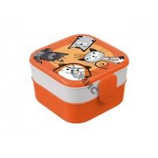 Контейнер для обеда (0,4+0,4л) - кошки (IDEA)