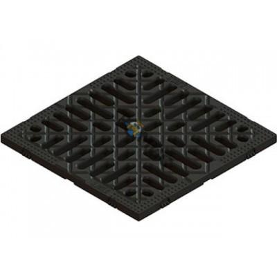 Решетка S'park РВ-25   щелевая (Решетка 250х250 (черный) к дождеприемнику S'park 86701) (Стандартпар