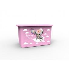 Контейнер для игрушек Mommy love (Мамми лав) 15,7 л, нежно-розовый, BEROSSI (Изд. из пластм. Размер