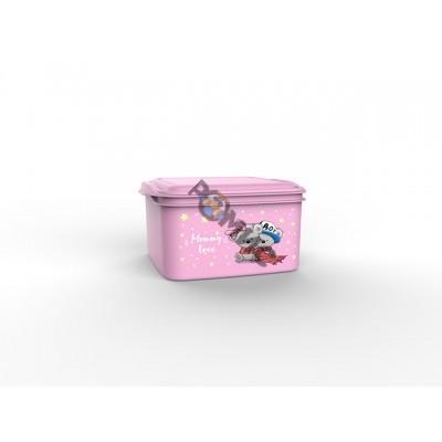 Контейнер универсальный Mommy love (Мамми лав) 1,5 л, нежно-розовый, BEROSSI (Изделие из пластмассы.