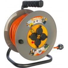 Удлинитель на кат. 4х30м с заземл. 16А IP44 ВЕМ-250 термо ПВС 3х2.5 UNIVersal 9634207, РФ