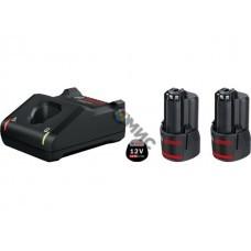 Комплект аккумулятор 12.0 В GBA12 V 2 шт. + зарядное устройство GAL 12V-40 (Набор GBA 12 В 2,0 Ач  2