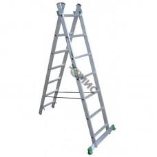 Лестница алюм. 2-х секц. 2х 9 ст. (255/423см) SKALA 01209, РБ
