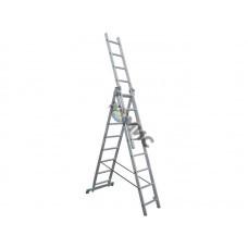 Лестница алюм. 3-х секц. 3х 7 ст. (199/314/423см) SKALA  01307, РБ