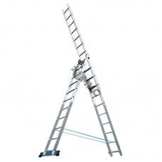 Лестница алюм. 3-х секц. 3х 8 ст. (227/370/507см) SKALA  01308, РБ