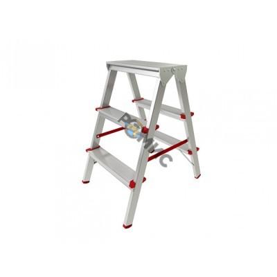 Лестница-стремянка алюм. 3 ступ.  67 см двухсторонняя TARKO 04203, РБ